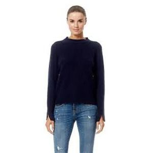 360 Cashmere Anna Ribbed Sweater Sz L